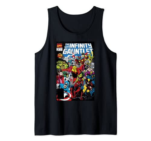 Marvel D23 Exclusive Vintage Infinity Gauntlet Comic Cover Tank Top