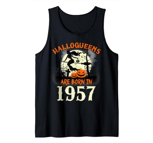 Halloqueens Are Born In 1957 Halloween Birthday Tank Top