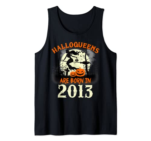 Halloqueens Are Born In 2013 Halloween Birthday Tank Top