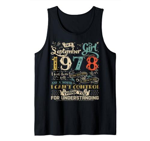 Classic 41st Birthday Gift Men Women Vintage September 1978 Tank Top