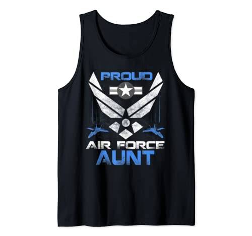 Proud Air Force Aunt T Shirt Veteran Pride Tee Tank Top