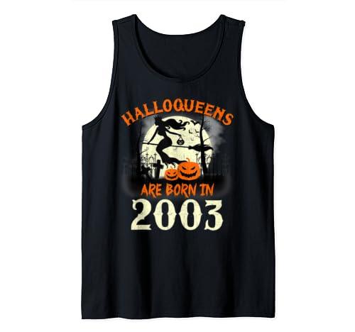 Halloqueens Are Born In 2003 Halloween Birthday Tank Top