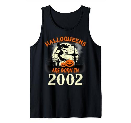 Halloqueens Are Born In 2002 Halloween Birthday Tank Top