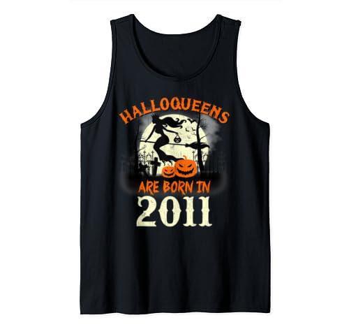 Halloqueens Are Born In 2011 Halloween Birthday Tank Top