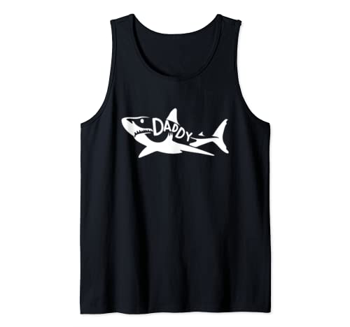 Mens Daddy Shark Father's Day Gift Tank Top