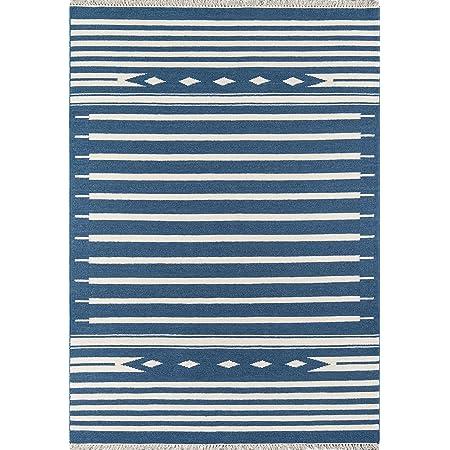 Erin Gates By Momeni Thompson Billings Denim Hand Woven Wool Area Rug 7 6 X 9 6 Furniture Decor
