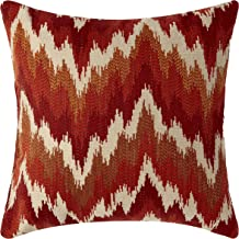 Pillow Pops Flames Red Throw Pillow, Luxury Designer Upholstery Cushion, 18 Inch by 18 Inch, Designed in USA, Burnt Orange Red