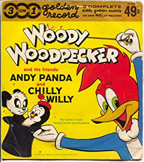 Woody Woodpecker Andy Panda-Chilly Willy #EP620 45 RPM Record-Jacket 1960-VG