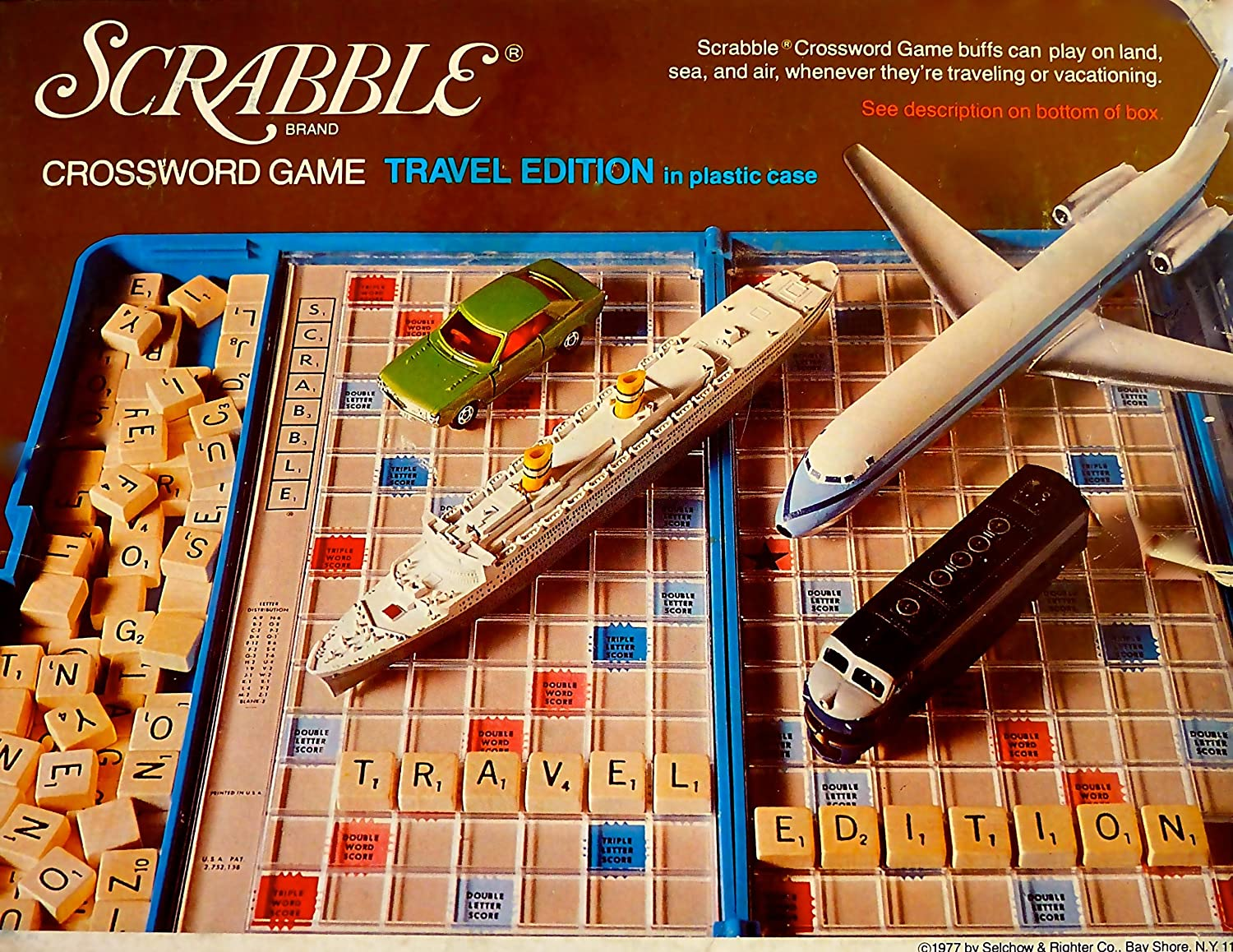 Scrabble Crossword Game 1977 Travel Edition by Selchow & Richter