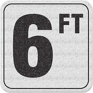Aquatic Custom Tile Vinyl 3M Adhesive Swimming Pool Deck Depth Marker 6 FT, 4 inch Font
