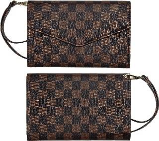 Luxury Checkered Passport Holder Cover Case Travel Wallet RFID Blocking for Men Women(Victoria)