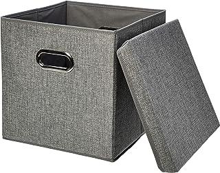 Amazon Basics Foldable Burlap Storage Cubes