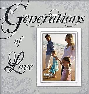 Malden International Designs Sentiments Generations of Love Wood Picture Frame, 5x7/12x13, Light Gray