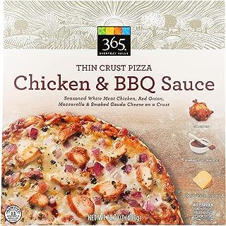 365 Everyday Value, Chicken & BBQ Sauce Thin Crust Pizza, 14.3 oz, (Frozen)