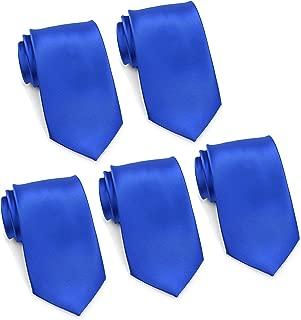 Mens Formal Tie Wholesale Lot of 5 Mens Solid Color Wedding Ties 3.5
