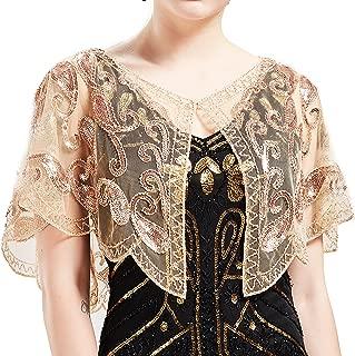 ArtiDeco 1920er Jahre Retro Schal Umschlagtücher für Abendkleider Stola für Hochzeit Party Gatsby Kostüm Accessoires