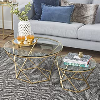 Amazon.com: Gold - Tables / Living Room Furniture: Home ...