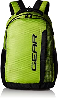 Gear 36 Ltrs Lime Green and Grey Casual Backpack (METLPCMQ30304)