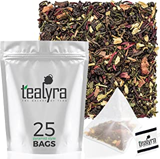 Tealyra - Fat Burner - 25 Bags - Wellness Detox Weight Loss Tea Blend - Pu Erh Aged - Sencha Green Tea - Wu-Yi Oolong - Diet Refreshing - Natural - Loose Leaf - Pyramids Style Sachets