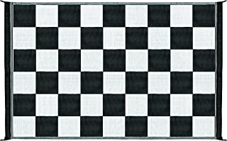 Camco Black & White 42884 Reversible Checkered Outdoor Mat-6' X 9'
