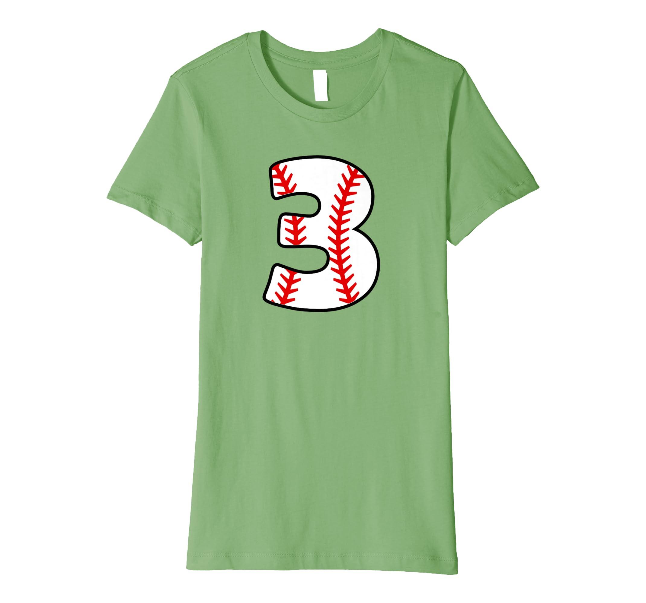 Third Birthday 3rd BASEBALL Shirt   Number 3 Born in 2015-Teechatpro