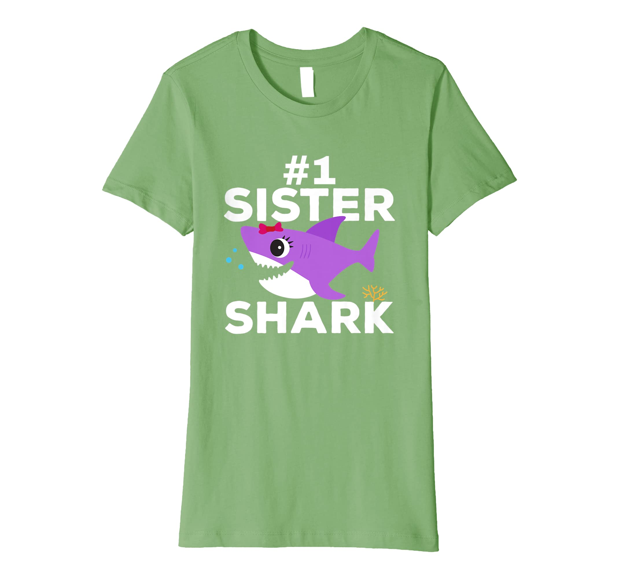 #1 Sister Shark Shirt, Birthday Christmas Halloween-ANZ
