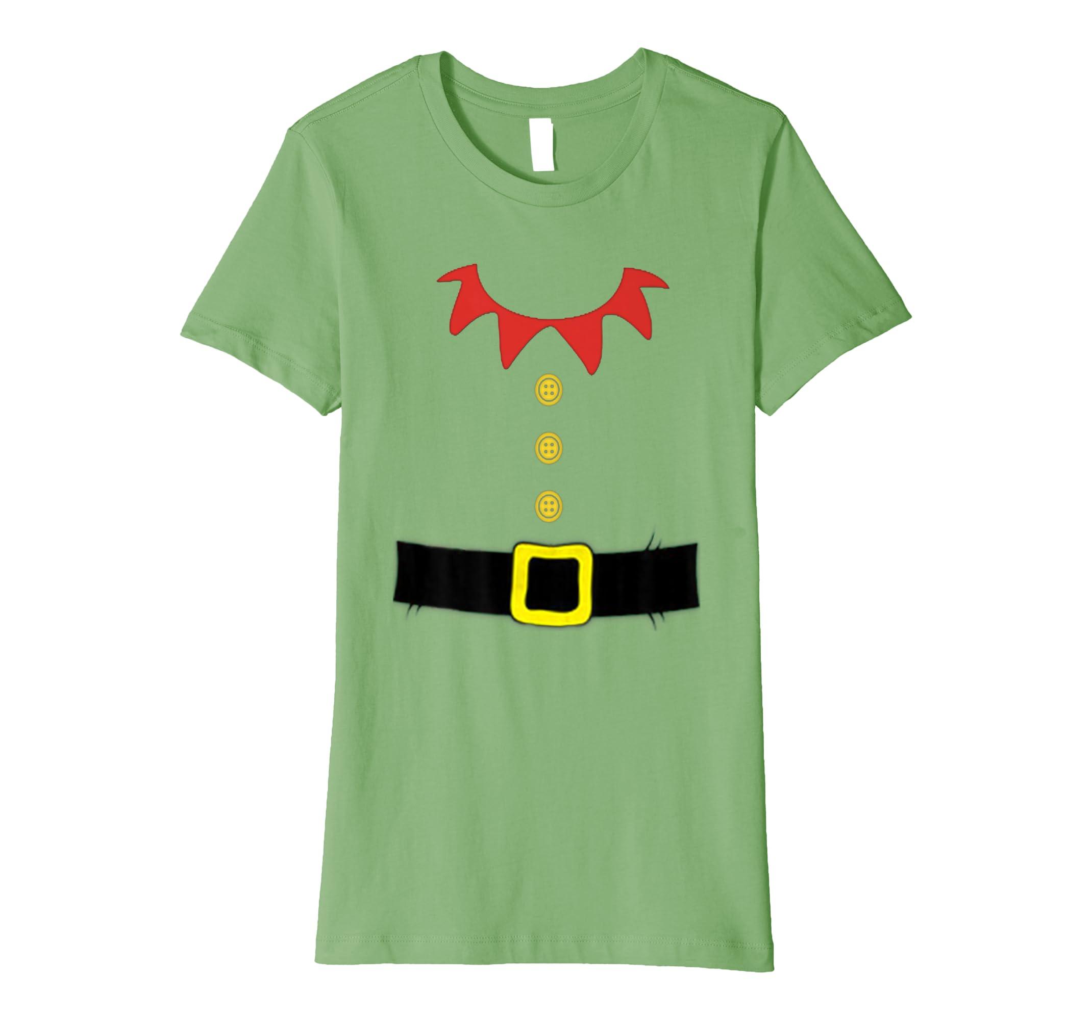 Santa Elf Kostüm Urlaub Weihnachten Shirt für Kinder & Erwachsene ...