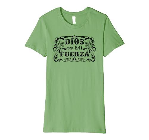 Amazon.com: Camisetas religiosas para mujeres, Dios es mi Fuerza Tee: Clothing
