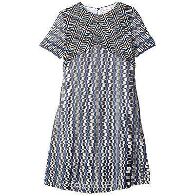 Missoni Kids Little Greca Dress (Big Kids) (Blue) Girl