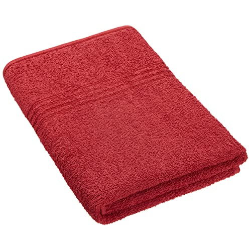 Trident Everyday Solid 380 GSM Cotton Bath Towel - Ruby Red