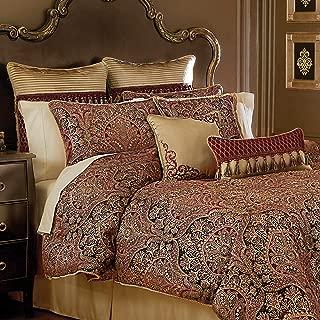 Croscill Roena Queen Comforter Burgundy