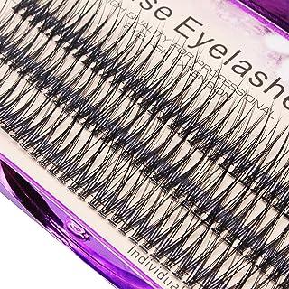 Scala 120pcs 0.10mm Thickness Handmade Fish Tail False Lahses Thick Natural Long Black Individual False Eyelashes Fake Eye Lashes Extensions Makeup Tool (14mm)