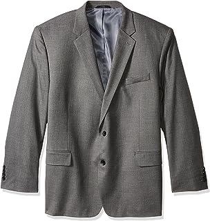 J.M. Haggar Men's Big & Tall Sharkskin Premium Classic-Fit Stretch Suit Separate Coat, Medium Grey, Regular 52