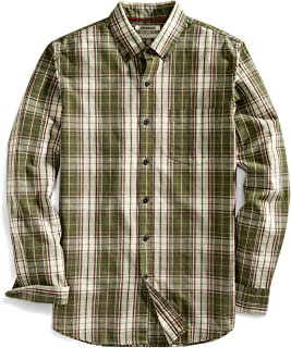 Goodthreads Men's Slim-Fit Long-Sleeve Plaid Slub Shirt