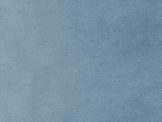 Light Blue Velvet Pet Friendly Water Cleanable Stain Resistant Aquaclean Upholstery Fabric by The Yard Bellagio Seaside 321
