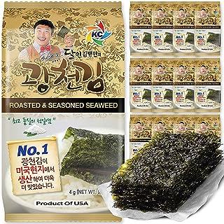 Kim Nori Gold Kim Roasted Seasoned Seaweed Snacks 4g ( 0.14 oz ) - 12 Packs Kim Nori Snack / 김, のり, 海苔, 紫菜 View on Amazon