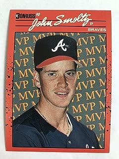 1990 Donruss #BC-12 John Smoltz Error NM/M (Near Mint/Mint)