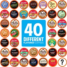 TWO RIVERS COFFEE Flavored Coffee Pods Compatible with 2 Keurig K Cup Brewers, Assorted Flavored Coffee, 40 Count (Pack of 1)