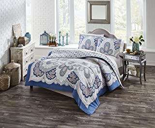 Boho Boutique Serene Comforter Set, Queen, Blue