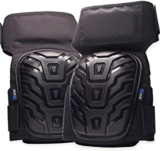 RNF Supply Knee Pads for Work – Superior Joint and Knee Pain Protection – Premium Gel & Foam Comfort Pad – Heavy Duty Stay-Put Thigh Straps – Puncture Resistant – Won't Block Circulation