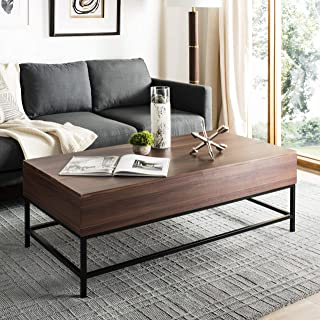 Safavieh Home Collection Tessa Antique Copper Heart Coffee Table, Dark Oak/Black