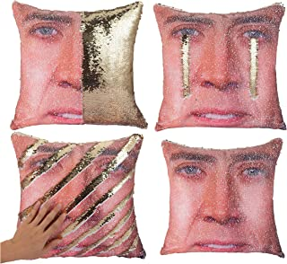 Tiaronics Magic Reversible Sequins Mermaid Pillow Cases Throw Pillow CoversDecorative Pillowcase 4040cm(1616