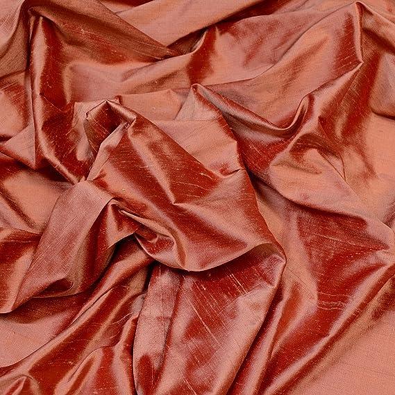 54 Width Indian Dupion iridescent Two tones Bronze 100/% Silk
