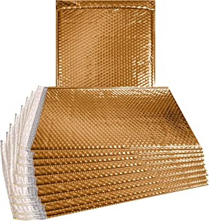 ABC 10 Pack Gold Metallic Bubble mailers 12 x 17. Large book size Padded envelopes 12х17. Glamour Bubble mailers. Peel and Seal. Padded mailing envelopes for Shipping, Packing, Packaging. Wholesale