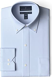 Marchio Amazon - Buttoned Down - Tailored Fit Button Collar Solid Non-iron Dress Shirt, Camicia Uomo