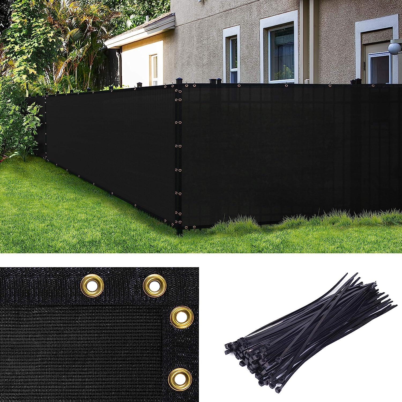 Amgo 人気の定番 Custom Made 5' x 17' Windscreen Screen Fence Privacy 割引も実施中 Black