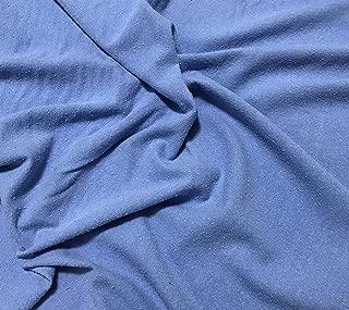 Cornflower Blue - Hand Dyed Raw Silk Noil Fabric