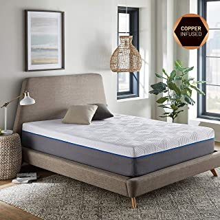RENUE 12-Inch Memory Foam Mattress, Copper & Gel Infused Memory Foam Cool Sleep, Improved Health, Bed in Box, Handcrafted in The USA, Twin