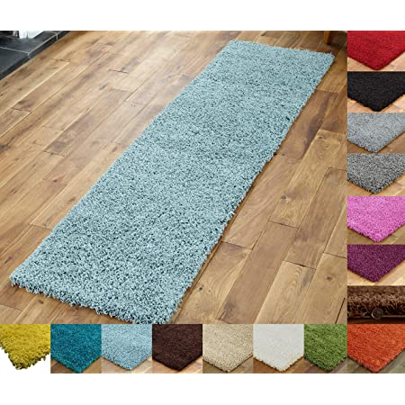 X LARGE SMALL DEEP PILE MODERN RUG NON-SHED SOFT SHAGGY ROUND RUNNER-TERRACOTTA