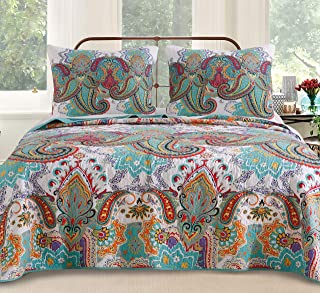 Greenland Home Nirvana Quilt Set, Full/Queen, Teal